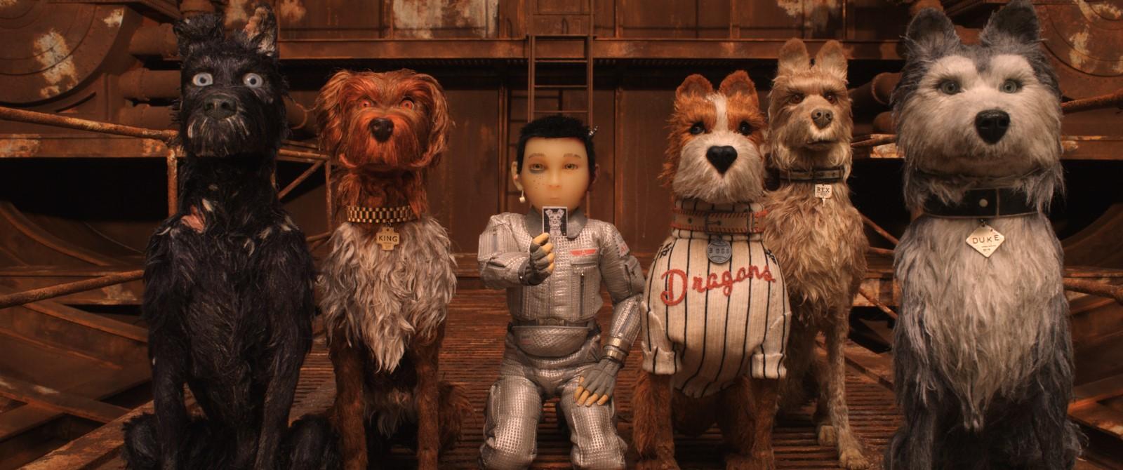 Image du film l'île aux chiens