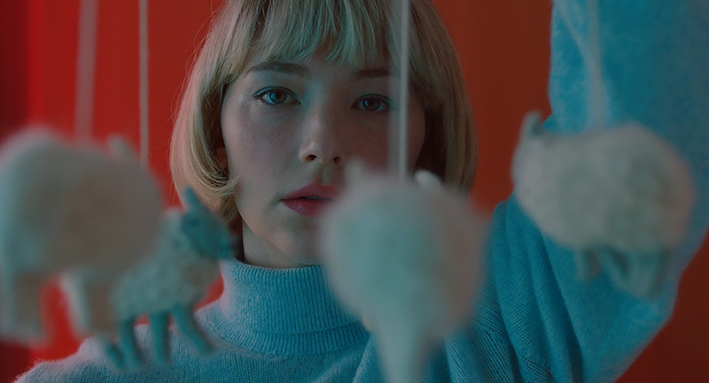 Capture de Haley Bennett dans le film Swallow.