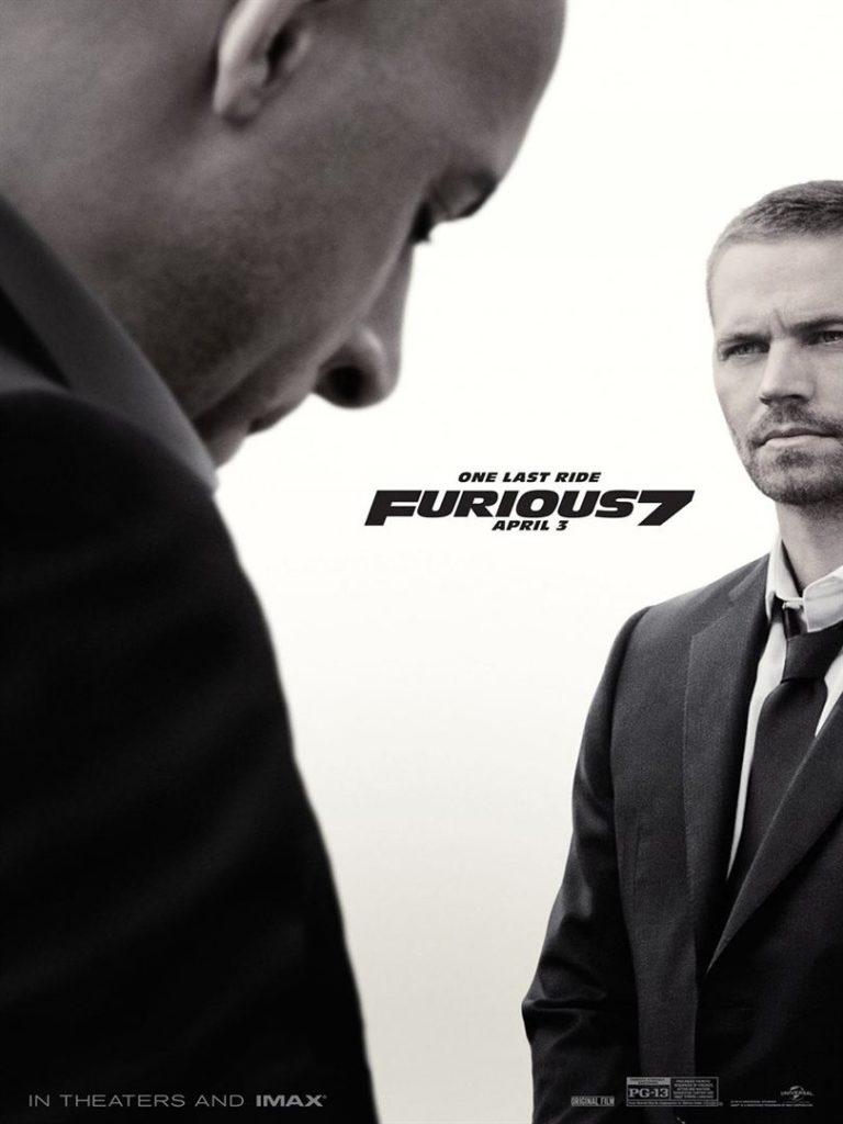 Affiche du film Fast and furious 7